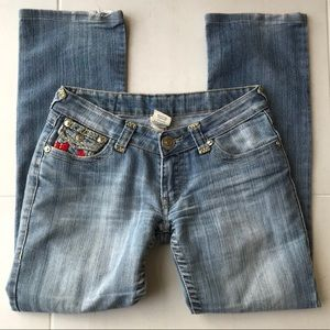 True Religion Joey Super T Straight Denim Jeans